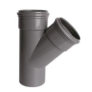 PVC buitenriolering T-stuk, 45°, 2 x M/S