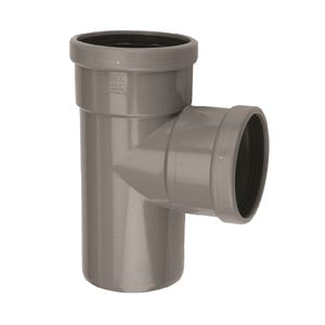 PVC buitenriolering T-stuk, 88°, 2 x M/S